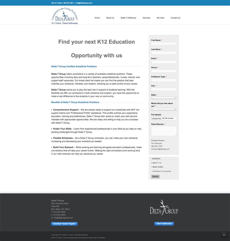 Substitute Teacher Delta-T K12 Newsletter